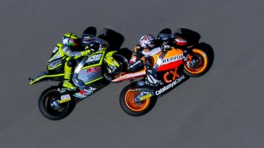Aragon 2012 - Moto2 - RACE - Action - Iannone and Marquez