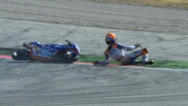 Aragon 2012 - Moto3 - RACE - Action - Jasper Iwema - Crash
