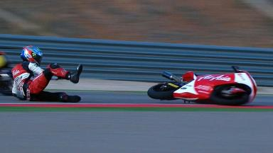 Aragon 2012 - Moto3 - RACE - Action - Zulfahmi Khairuddin - Crash