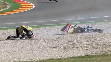 Aragon 2012 - Moto3 - RACE - Action - Adrian Martin - Crash