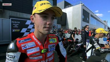 Aragon 2012 - Moto3 - RACE - Interview - Jonas Folger