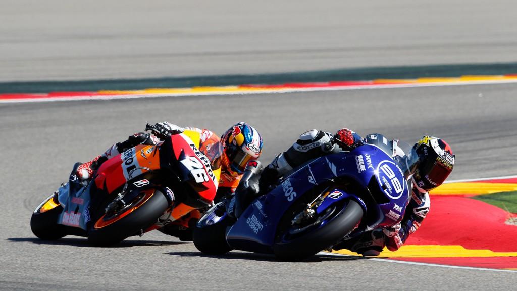 Jorge Lorenzo, Dani Pedrosa, Yamaha Factory Racing, Repsol Honda Team, Aragón RAC