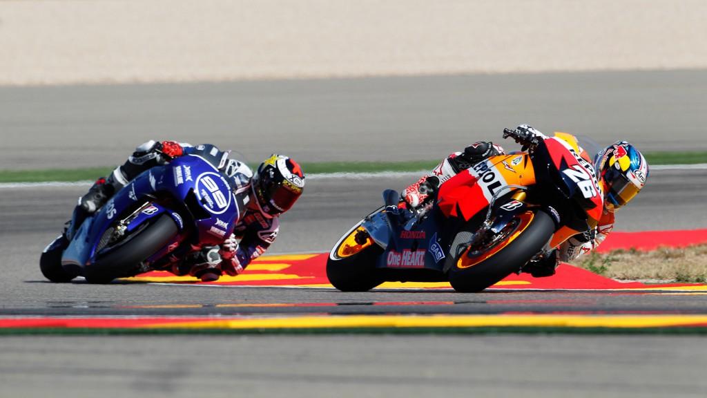 Dani Pedrosa, Jorge Lorenzo, Repsol Honda Team, Yamaha Factory Racing, Aragón RAC