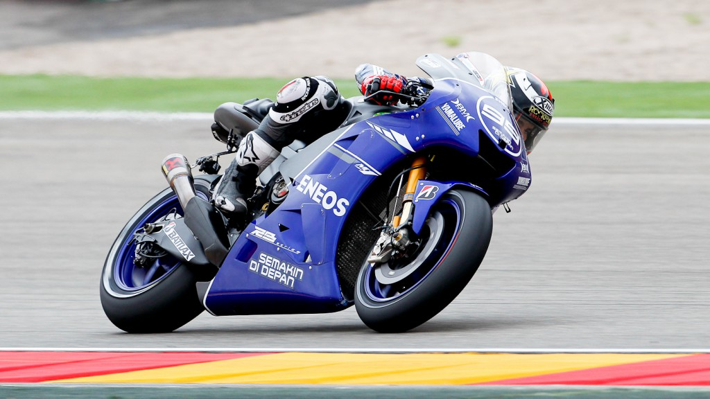 Jorge Lorenzo, Yamaha Factory Racing, Aragón WUP