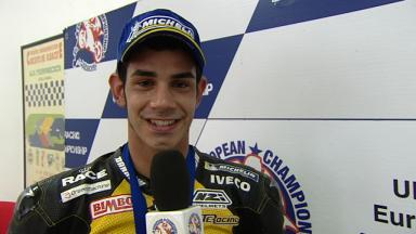 2012 - European Championship  - Interview - Supersport 600 - Jordi Torres