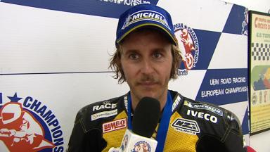 2012 - European Championship  - Interview - Superstock 1000 - Carmelo Morales