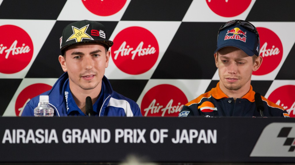 Lorenzo, Stoner, Yamaha Factory Racing, Repsol Honda MotoGP, Airasia Grand Prix of Japan Press Conference