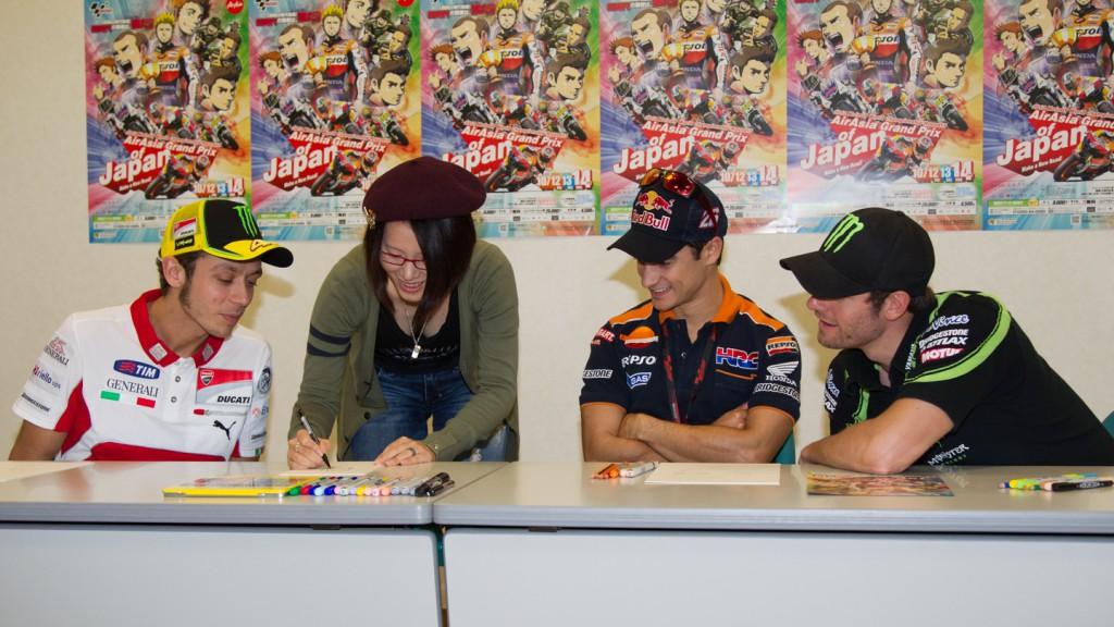 Rossi, Ranka, Pedrosa, Crutchlow, MotoGP Manga Preevent, Motegi