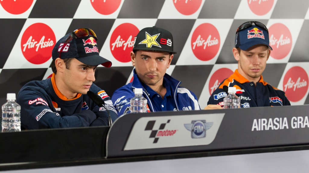 Pedrosa, Lorenzo, Repsol Honda team, Yamaha Factory Racing, Airasia Grand Prix of Japan Press Conference