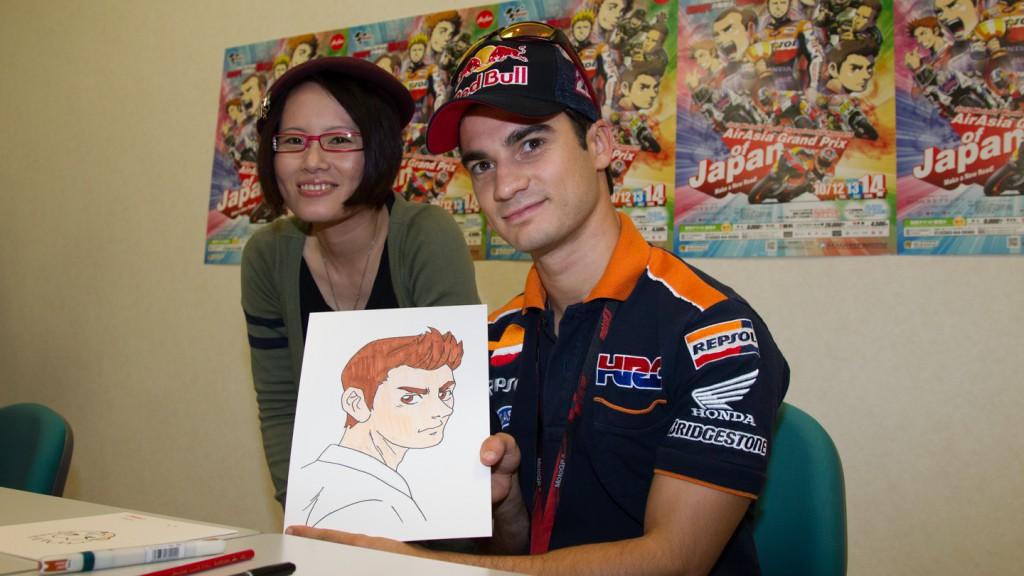 Dani Pedrosa, MotoGP Manga Preevent, Motegi