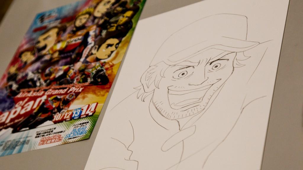 Crutchlow Manga Portrait by Ranka, MotoGP Manga Preevent, Motegi