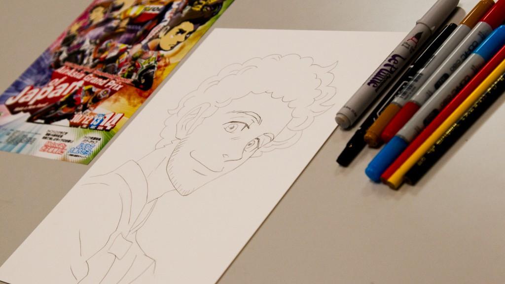 Rossi Manga Portrait by Ranka, MotoGP Manga Preevent, Motegi