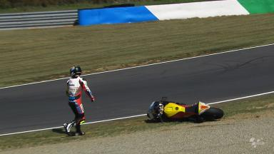 Motegi 2012 - Moto2 - FP1 - Action - Marcel Schrotter - Crash