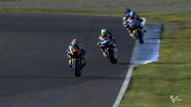 Marc Márquez, do Team CatalunyaCaixa Repsol, apresentou fantástica prestação na segunda sessão de treinos da Moto2™ do AirAsia Grande Prémio do Japão, em Motegi, para terminar com a melhor marca à frente de Bradley Smith e Scott Redding.