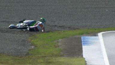 Motegi 2012 - Moto3 - FP2 - Action - Niccolo Antonelli - Crash