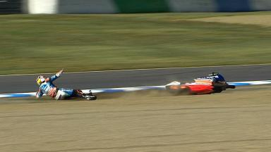 Motegi 2012 - Moto3 - FP2 - Action - Maverick ViÑales - Crash