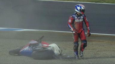 Motegi 2012 - MotoGP - QP - Action - James Ellison - Crash