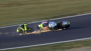 Motegi 2012 - Moto2 - QP - Action - Andrea Iannone - Crash