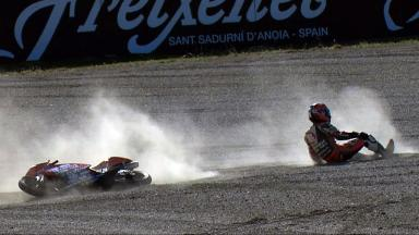Motegi 2012 - Moto3 - FP3 - Action - Yuudai Kamei - Crash