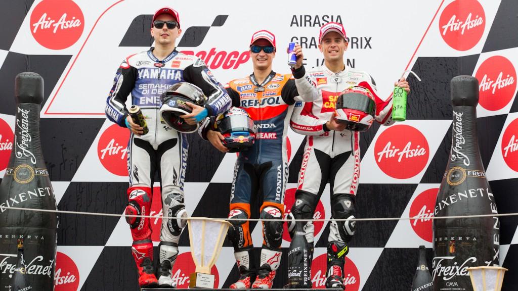 Lorenzo, Pedrosa, Bautista, Yamaha Factory Racing, Repsol Honda Team, San Carlo Honda Gresini, Motegi RAC