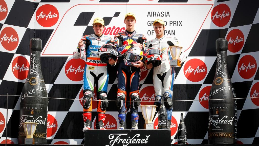 Viñales, Kent, Tonucci, Blusens Avintia, Red Bull KTM Ajo, Team Italia FMI, Motegi RAC
