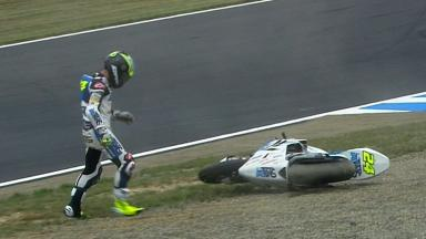 Motegi 2012 - Moto2 - RACE - Action - Toni Elias - Crash