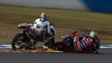 Motegi 2012 - Moto3 - RACE - Action - Sandro Cortese - Crash