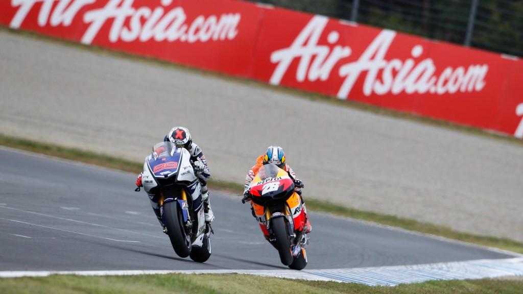 Jorge Lorenzo, Dani Pedrosa, Yamaha Factory Racing, Repsol Honda Team, Motegi RAC