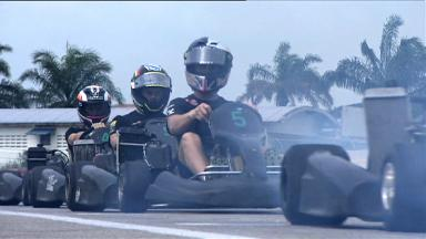MotoGP™ swaps two wheels for four in Sepang karting event
