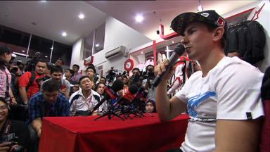 Lorenzo philosophical about title at Alpinestars pre-event in Malaysia