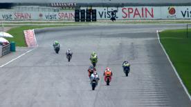 Pol Espargagó, da Tuenti Movil HP 40, foi quem liderou a primeira sessão de livres de Moto2™ no Grande Prémio de Motociclismo da Malásia, à frente de Bradley Smith e Marc Márquez.