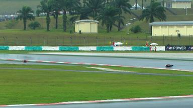 Sepang 2012 - Moto2 - FP2 - Action - Alex De Angelis - Crash