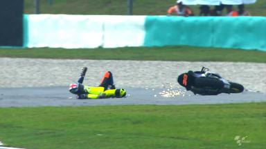 Sepang 2012 - Moto2 - FP2 - Action - Bradley Smith - Crash