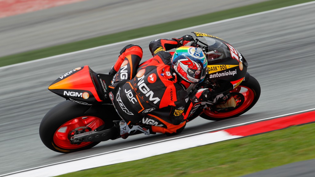 Alex de Angelis, NGM Mobile Forward Racing, Sepang FP1