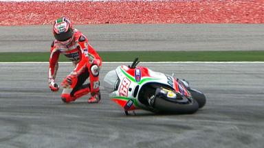 Sepang 2012 - MotoGP - FP3 - Action - Nicky Hayden - Crash