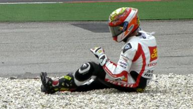 Sepang 2012 - MotoGP - QP - Action - Alvaro Bautista - Crash
