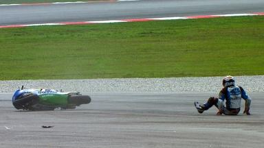 Sepang 2012 - Moto2 - QP - Action - Julian Simon - Crash