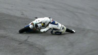 Sepang 2012 - Moto3 - QP - Action - Romano Fenati - Crash