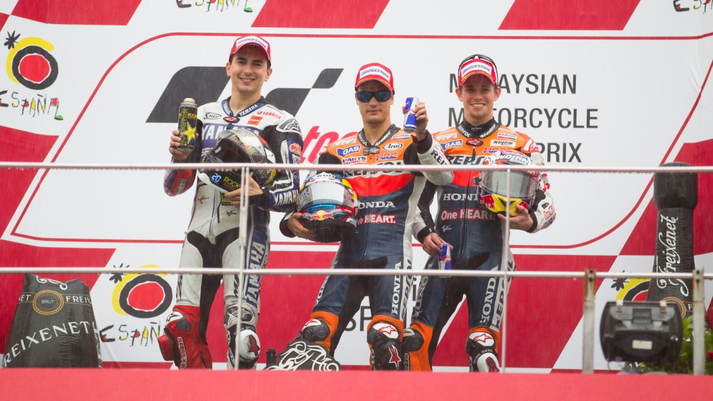Lorenzo, Pedrosa, Stoner, Yamaha Factory Racing, Repsol Honda Team, Sepang RAC