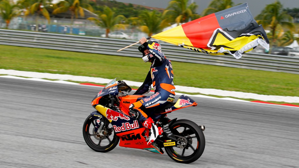 2012 Moto3 World Champion Sandro Cortese, Sepang RAC