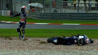 Sepang 2012 - MotoGP - RACE - Action - Randy De Puniet - Crash