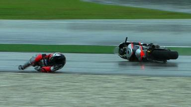 Sepang 2012 - MotoGP - RACE - Action - Roberto Rolfo - Crash