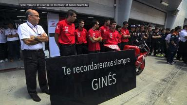 One minute of silence in memory of Ginés Guirado