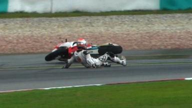 Sepang 2012 - Moto2 - RACE - Action - Mike Di Meglio - Crash