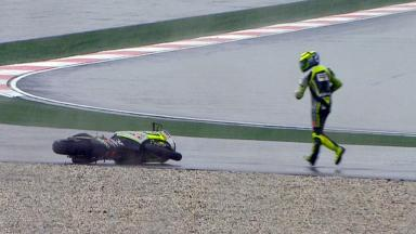 Sepang 2012 - Moto2 - RACE - Action - Andrea Iannone - Crash