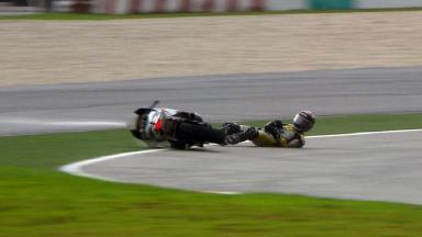 Sepang 2012 - Moto2 - RACE - Action - Thomas Luthi - Crash