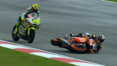 Sepang 2012 - Moto2 - RACE - Action - Marc Marquez - Crash