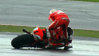 Sepang 2012 - Moto2 - RACE - Action - Nicolas Terol - Crash