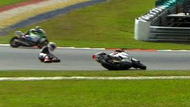 Sepang 2012 - Moto2 - RACE - Action - Ratthapark Wilairot - Crash