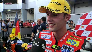 Sepang 2012 - Moto3 - RACE - Interview - Jonas Folger